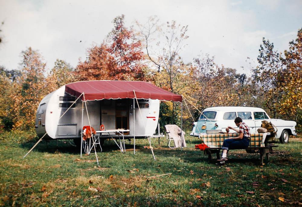 1954 trailer camping