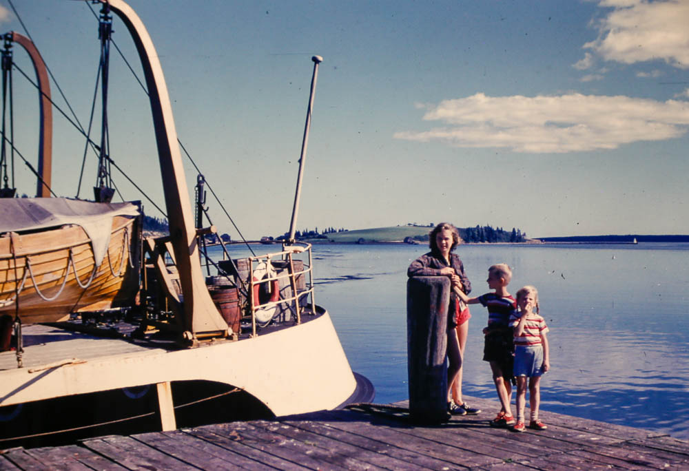 1954 Mary, Liz, and David  Nova Scotia