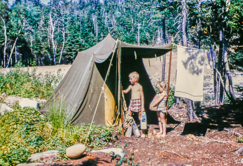 1954 Camp site Nova Scotia