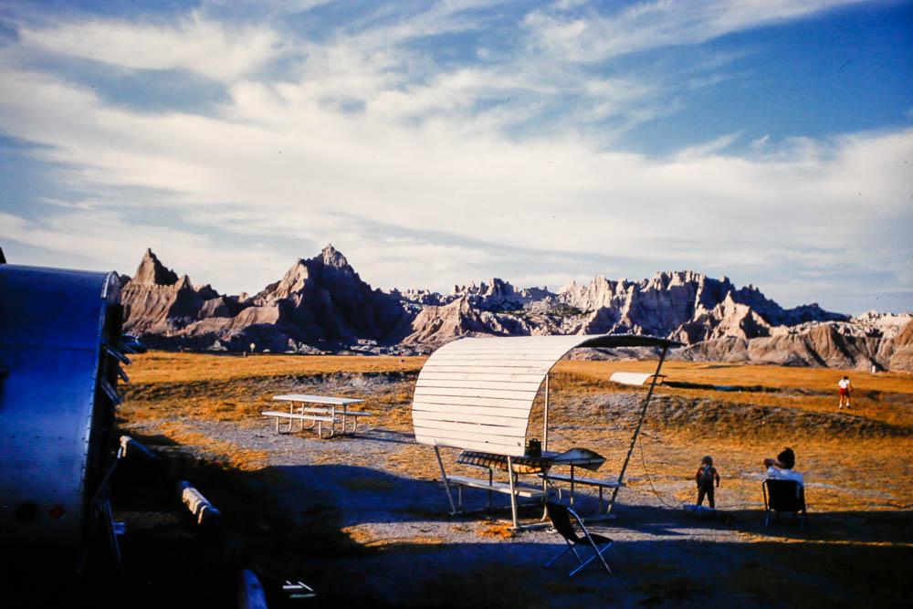 1961  Badlands camping