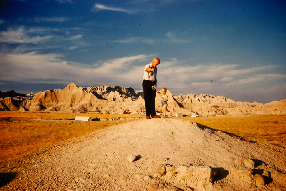 1961 Page and Bill visit the Badlands