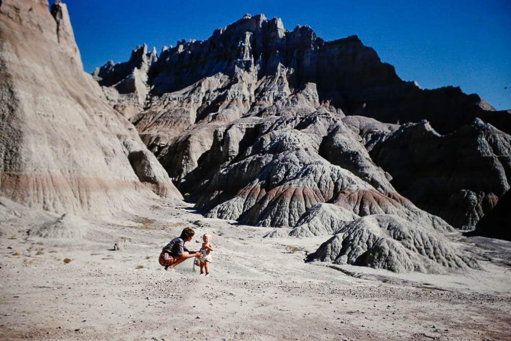 1961 Page and Liz in the Badlands