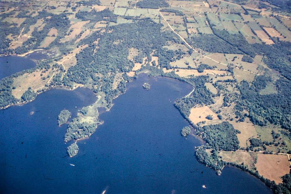 1971 Island from the air
