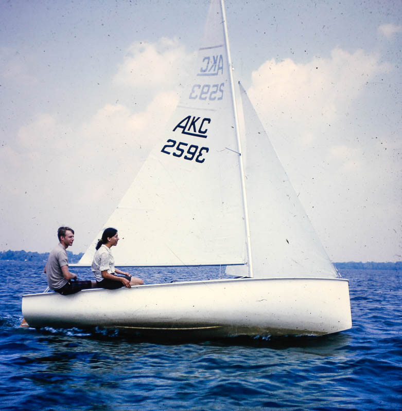1968 Janet and David sailing
