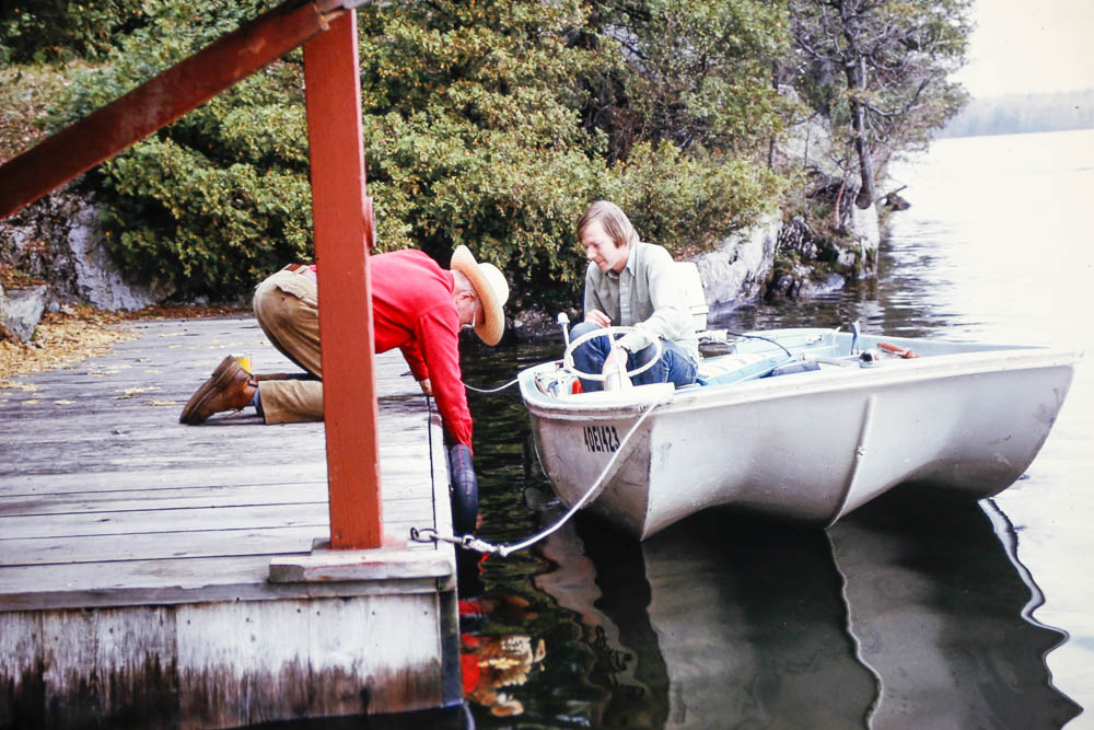 1974 David and Bill starting boathouse water supply