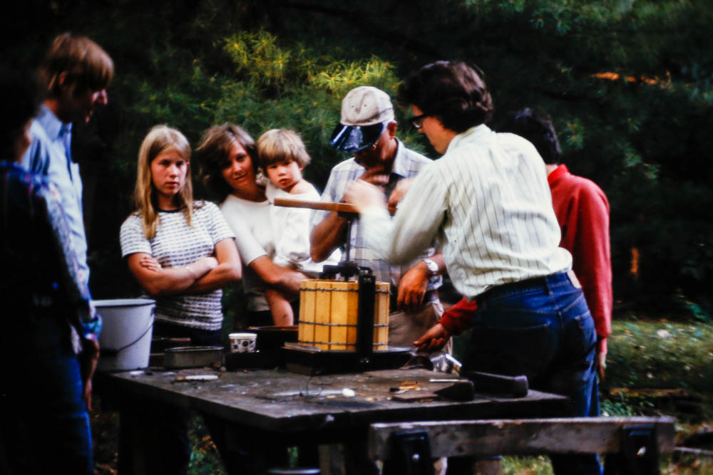 1974 Apple cider time at the Island