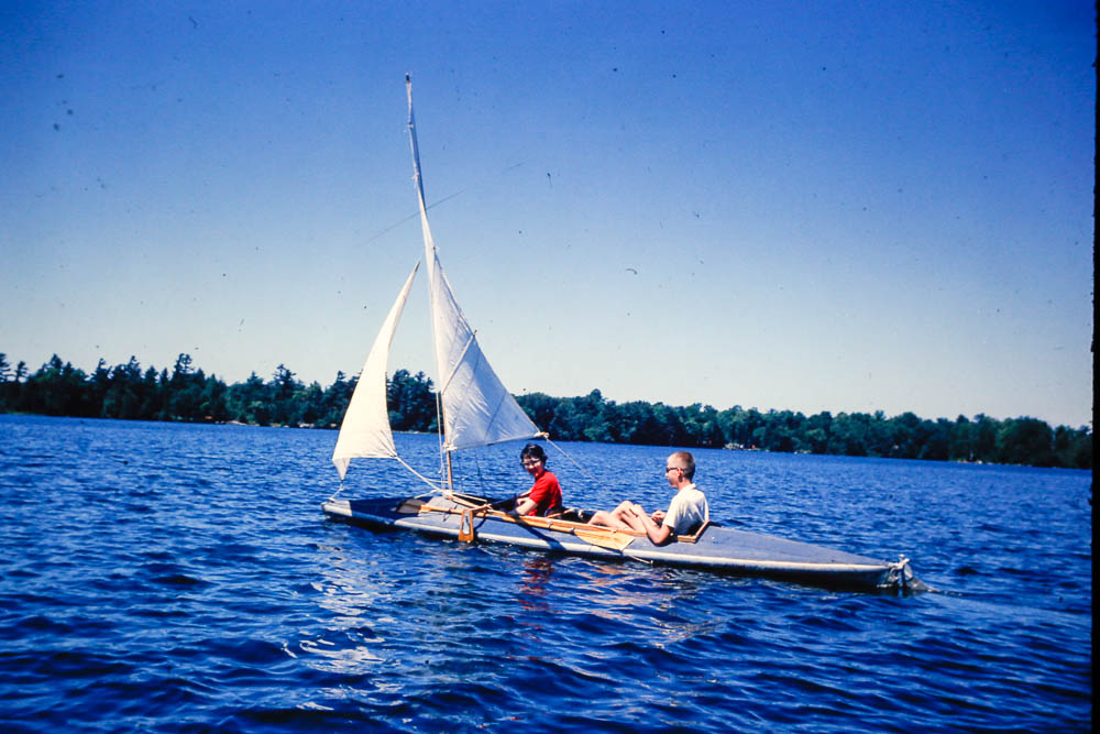 1962 Jane Heald and David sailing the Faltboat