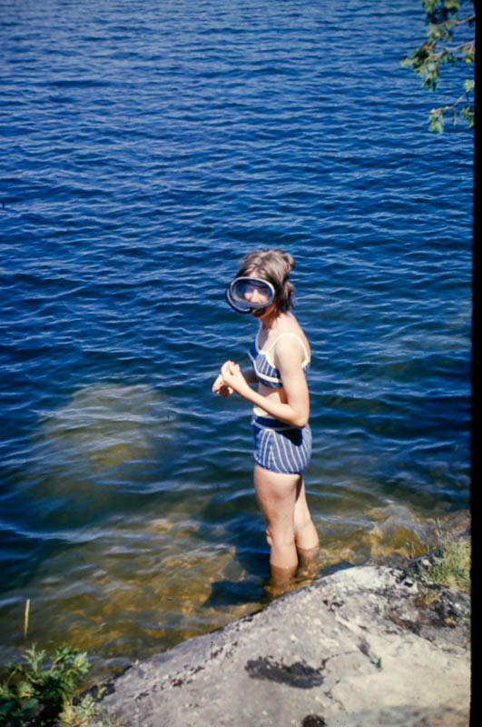 1964 Liz swimming at the Island