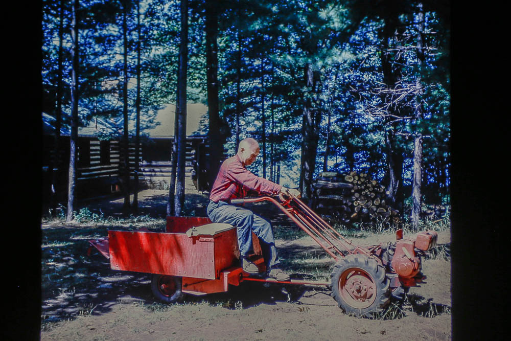 1963. Bill with tractor