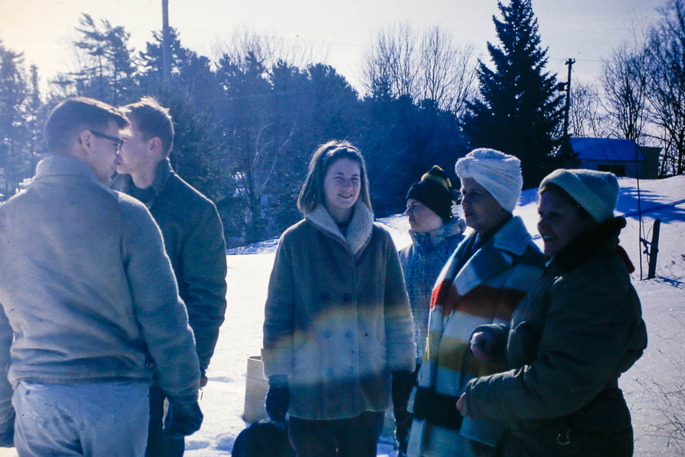 1965 winter visit - Liz, Ron, Joe