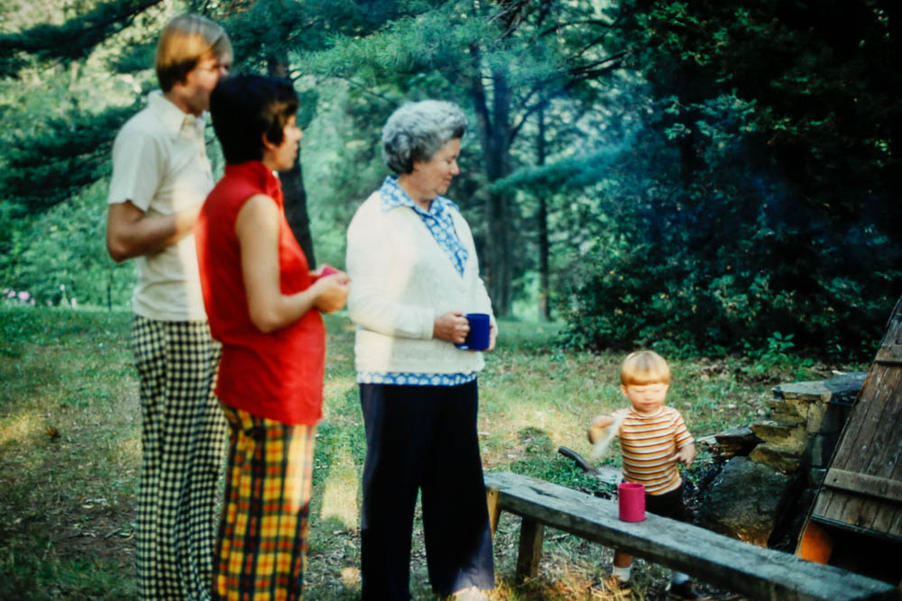 1976 David, Janet, Dot, and Andrew