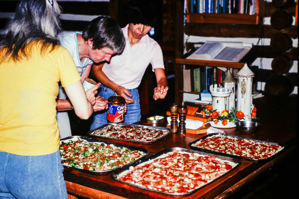 1980 Pizza party for Guild