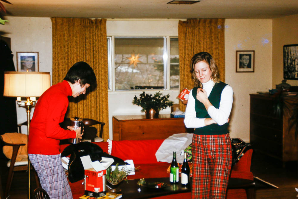 1975, December - Janet and Mary