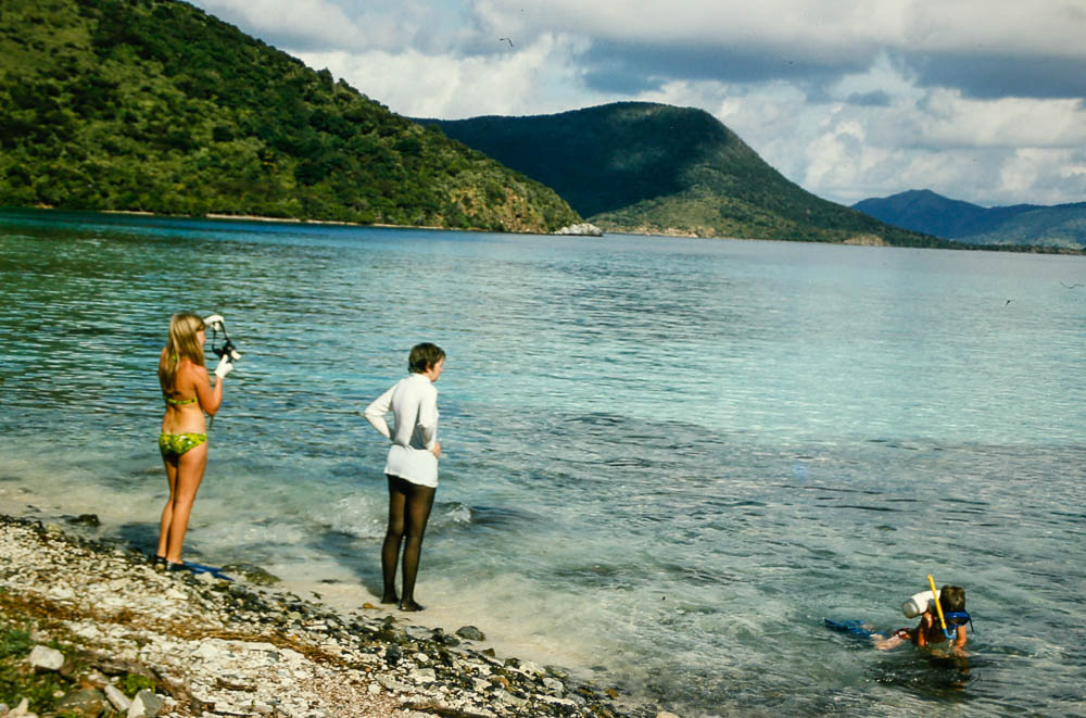 1974  St. John, Trunk Bay - PAGE AND Barbara