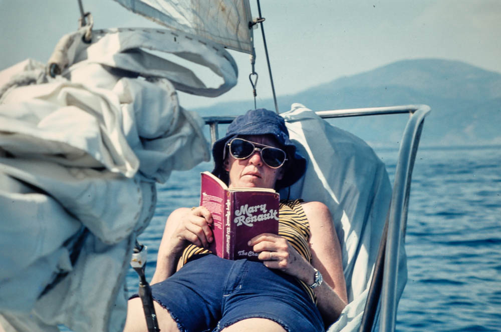 1976 Margie aboard Dovekie in Greece