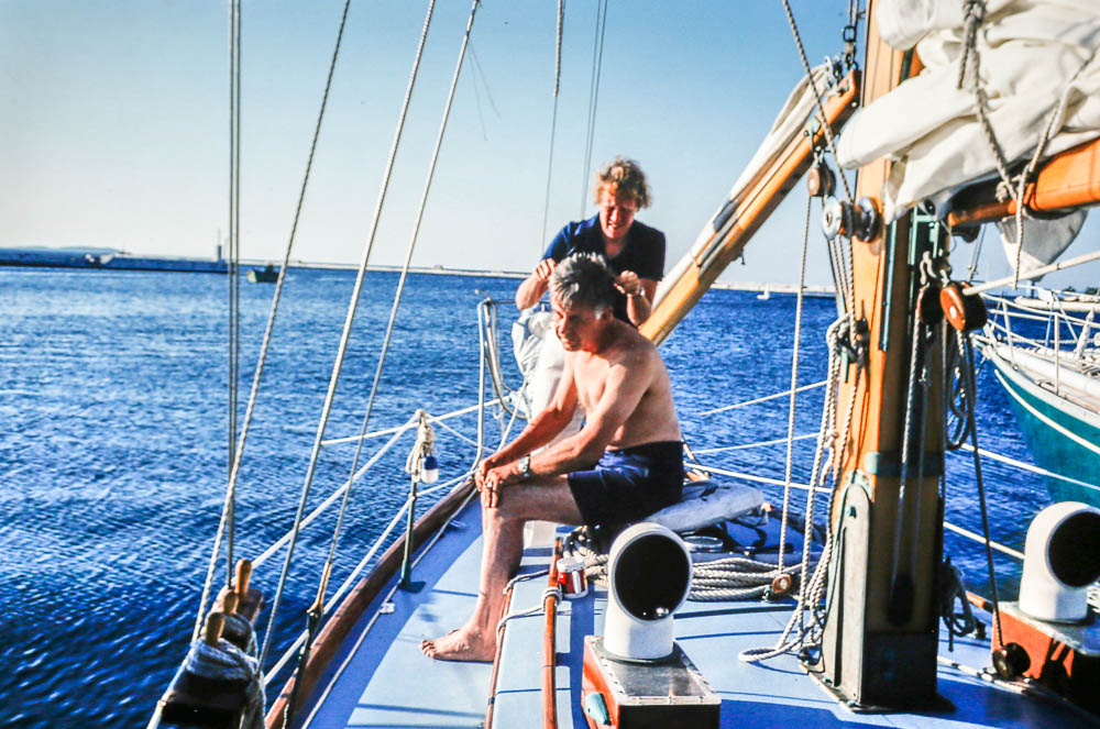 1976 Aboard Dovekie in Greece