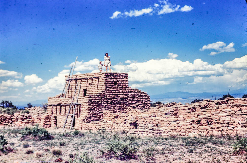 1944 Puye Ruins  Barbara nad Mary