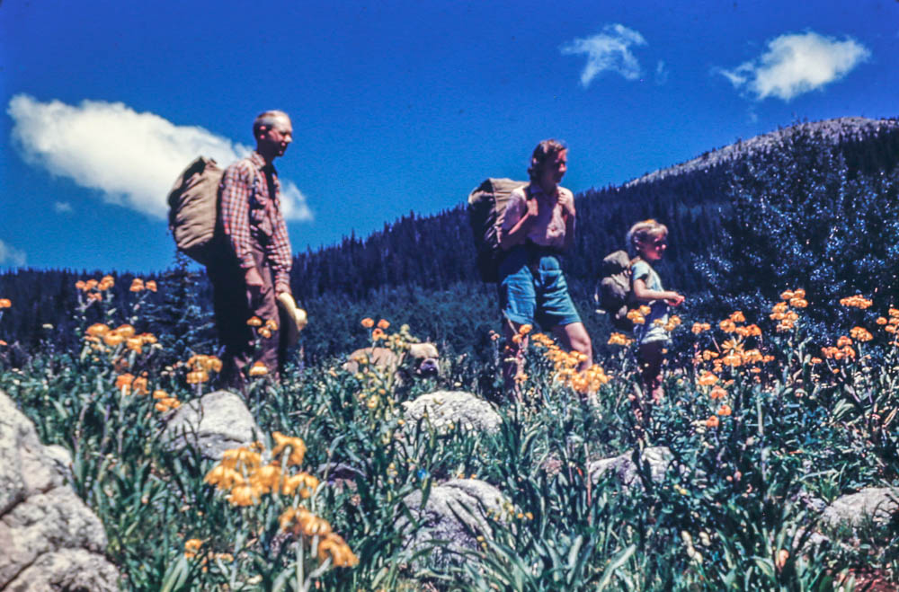 1944 Aspen Basin - Bill, Barbara, and ?