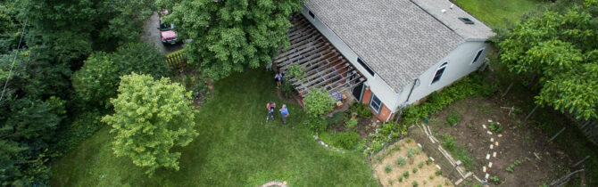 Cliff and Linda's house from above
